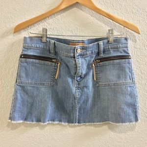 Tommy Jeans mini denim skirt with frayed hem